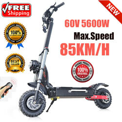 Powerful Electric Scooters Adults 60v 5600w 11inch Off Road Fat Tire Dual Motors