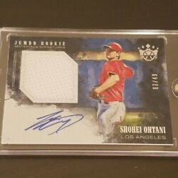 Shohei Ohtani First Year Of 2018 Majors Inclusion Actual Use Autograph Card 49