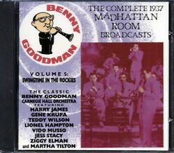 Sealed New Cd Benny Goodman - The Complete 1937 Madhattan Room Broadcasts Volume