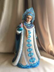 Author's Collectible Carved Figure Snow Maiden Handmade. 40 см