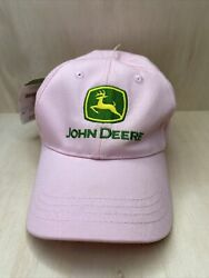 John Deere Pink Woman's Size One Adjustable Ball Cap Hat New With Tags