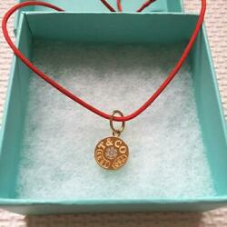 And Co. 18kyg Circle Charms Necklace Free Shipping No.1858