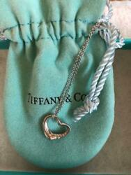 And Co. Diamond Platinum Open Heart Necklace Free Shipping No.1950