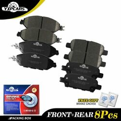 For 2013-2016 2017 2018 2019 Nissan Pathfinder Front And Rear Ceramic Brake Pads