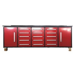 Tool Chest Work Bench Cabinet 15 Drawers And 2 Cabinets 10 Ft