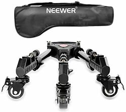 Neewer Photography Professional Heavy Duty Tripod Dolly With Rubber Wheels