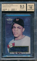 2012 Topps Tier One Clear Rookie Reprint Auto Willie Mays 3/25 Bgs 9.5