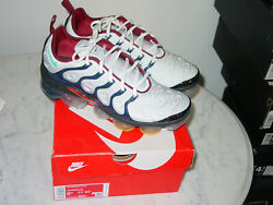 2020 Mens Nike Air Vapormax Plus Pure Platinum/oracle Running Shoes Size 8.5