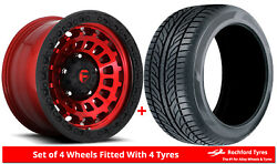 Alloy Wheels And Tyres 18 Fuel Zephyr Truck D632 For Nissan Frontier [mk1] 97-04