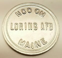 Vtg Nco Om Loring Air Force Base Maine Us .25c Trade Token Coin Officers Club