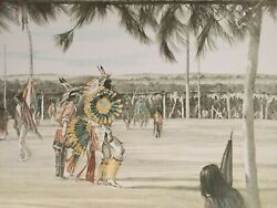 Sioux Indian Lithographs - The Sun Dance - Wounded Knee, Sd 1972 - Set Of 10