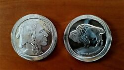Roll 20 Silvertowne Indian Head Buffalo Stackable Rounds 1 Oz 999 Fine Silver