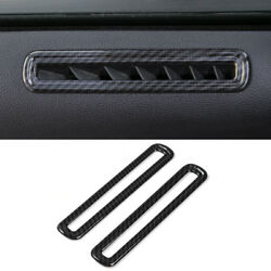 Carbon Fiber Car Interior Side Door Ac Vent Cover Trim For Ford Mustang 2015-17