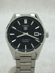 Tagheuer Carrera Calibre Automatic Watch Analog Stainless Steel Nvy Slv