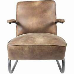 Moeand039s Home Industrial Perth Grazed Club Chair With Brown Leather Pk-1022-03