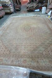 Sino Chinese Oriental Rug Wool And Silk Handmade Knotted Mahi Fish Design 10and039x14and039
