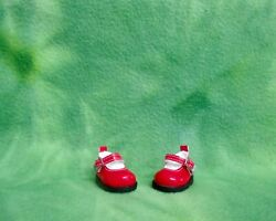2 Red Pu Leather Mary Jane Shoes Fits 10-11 Meadows Dolls Patti Tella Bjds