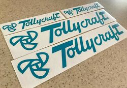 Tollycraft Vintage Boat Decals 18 And 9 4-pak Free Ship + Free Fish Decal