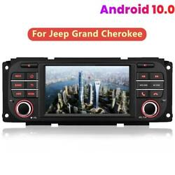 For Jeep Grand Cherokee Wrangler 5and039and039android 10.0 Car Radio Bluetooth Gps Dab Bt
