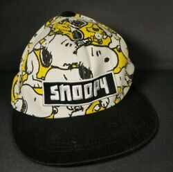 Snapback Snoopy Hat Spell Out All Over Print Snoopy Woodstock