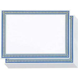 Certificate Paper With Gold And Blue Border, Award Certificates White, 8.5 X 11
