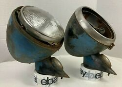 1940 1941-47 Ford Truck Headlights And Stands 3/4 1 Ton Pickup Coe Hot Rat Rod