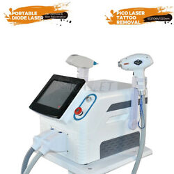 2 In 1 Diode Laser 755nm 808nm 1064nm Hair Removal Nd Yag Tattoo Removal Machine