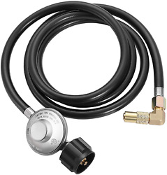 Elaeagnus Qcc1 6 Feet Propane Adapter Hose With Regulator To Quick Connect For 1