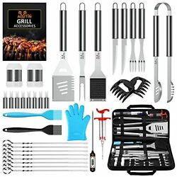 Aisitin 35pcs Bbq Grill Grilling Accessories Tools Set Barbecue Tool Sets Wit...