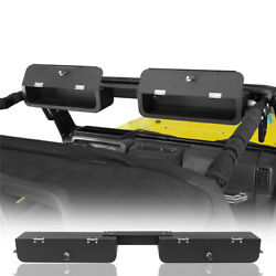 High-tech Secures Front Overhead Storage Console Box For 97-06 Jeep Wrangler Tj