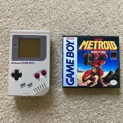Dmg Nintendo Game Boy With Back Light | Includes Metroid Ii And Custom Box