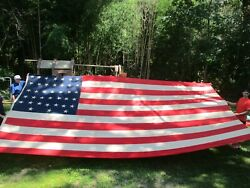 Hard To Find 1877-1890 Usa American Flag With 38 Stars - 252 X 140