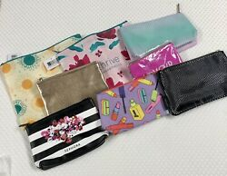 Lot of 8 Makeup Cosmetic Bags Clinique Sephora Thrive Bare Minerals NEW $9.99