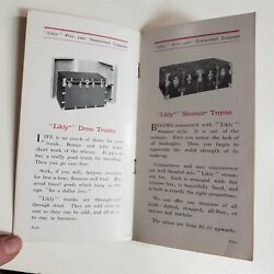 1913 Antique Likly Luggage Catalog Wardrobes Runabouts Steamer Trunks More 16pg