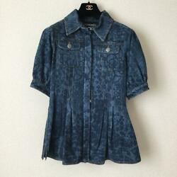 Airline Denim Jacket Size 36 Free Shipping No.7820