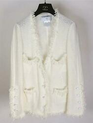 Coco Mark Button Summer Tweed Jacket 38 Free Shipping No.7874