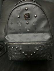 Mcm Backpack M6564 Black Receipt, Container, Paper Bag At The Time Of Purchase