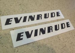 Evinrude Vintage Outboard Motor Decals 8 Black 2-pk Free Ship + Free Fish Decal