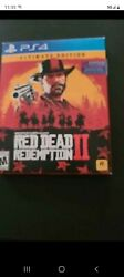 Red Dead Redemption 2 Ii Ultimate Edition Sony Playstation 4 Ps4 Game W Maps
