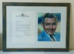 Uaccrd Clark Gable Autograph Gone With The Wind/ Rare