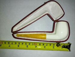 NEW Unsmoked high quality Turkish Meerschaum Pipe with case