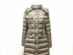 Moncler Downcoat Size Xs Women And039s Hermine Erminne 49339-05-53048 Grey Beige Long