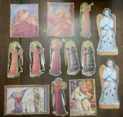 Angelical Angel Christmas Cutouts Handmade Victorian Style Decorations