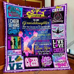 Cheerleading. To My Granddaughter. Quilt Blanket Oq006