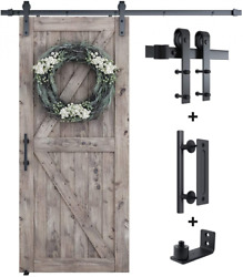 6.6ft Sliding Barn Door Hardware Whole Kit Include 6.6ft Track Kit And Pull...