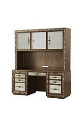 Acme Orianne Antique Gold Computer Desk With Hutch 93790