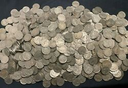 1000 Full Date Buffalo Nickels, Mixed Dates And Mint Marks, 25 Rolls Us Coins