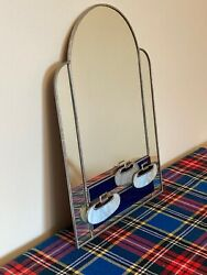 Superb Quality, Hand Made, Leaded And Glass, Art Deco Style Curling Stone Mirror