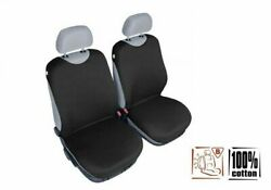 Universal Cotton Front Seat Covers Black T-shirt Chevrolet Orlando