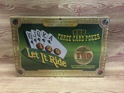 Let It Ride And Three Card Poker Texas Hold'em Authorized Home Casino Game Set